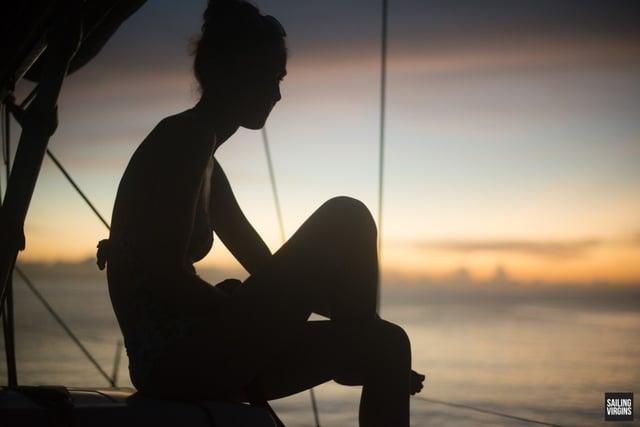 island-adventure-silhouette woman