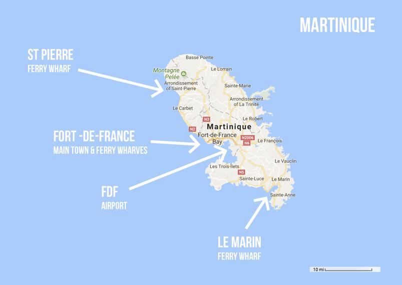 martinique-entry-exit-points