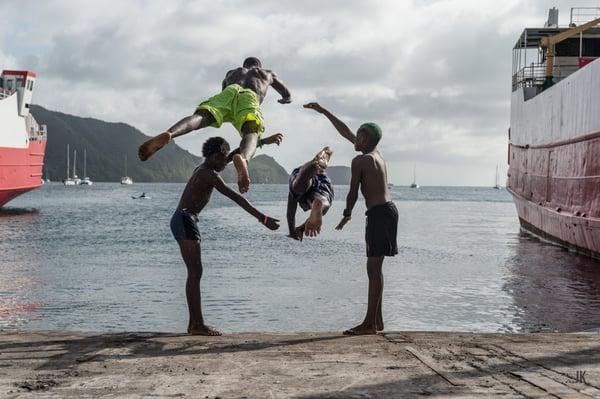 Locals having fun 3, Bequia