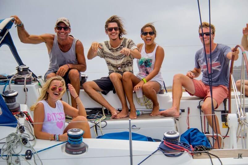 Sailing Virgins great crew
