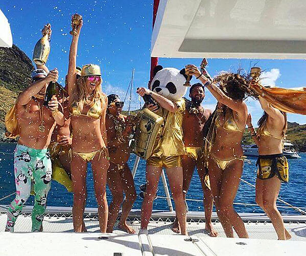 TBL partying and sailing