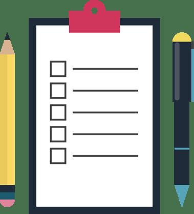 check-out checklist